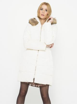 Biely zimný kabát s kapucou CAMAIEU dámské biela L