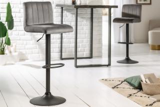 Bighome - Barová stolička PORTER - sivá, čierna