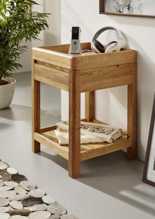 Bighome - BRISBANE Príručný stolík 40x60 cm, dub