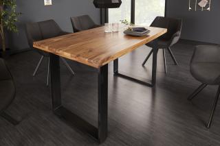 Bighome - Jedálenský stôl IRONIC 140 cm - palisander, prírodná