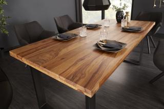 Bighome - Jedálenský stôl IRONIC 160 cm - palisander, prírodná