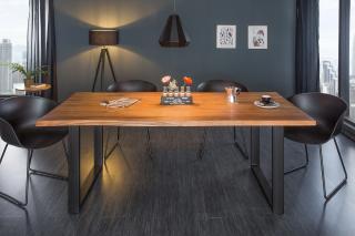 Bighome - Jedálenský stôl MAMUT 160 cm - hnedá