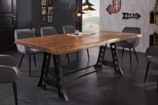 Bighome - Jedálenský stôl MAMUT INDUSTRY 220 cm - prírodná