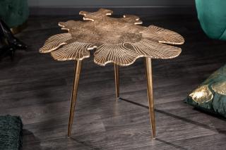 Bighome - Konferenčný stolík BREGENZ 57 cm - zlatá