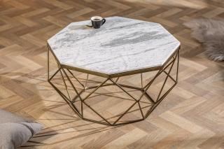 Bighome - Konferenčný stolík DIAMANT 70 cm - biela