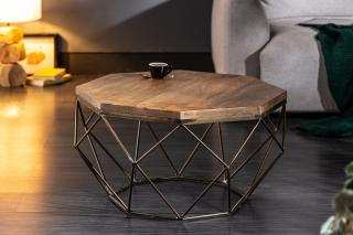Bighome - Konferenčný stolík DIAMANT 70 cm - prírodná