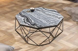 Bighome - Konferenčný stolík DIAMANT 70 cm - sivá