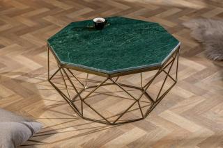Bighome - Konferenčný stolík DIAMANT 70 cm - zelená
