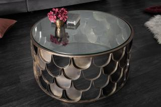 Bighome - Konferenčný stolík MIA 60 cm - mosadz