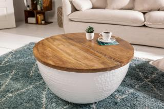 Bighome - Konferenčný stolík ORIENT 60 cm - biela