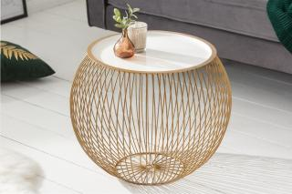 Bighome - Konferenčný stolík STORY 41 cm - zlatá