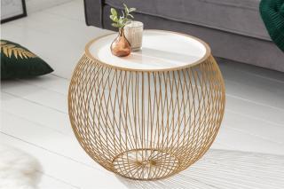 Bighome - Konferenčný stolík STORY 51 cm - zlatá