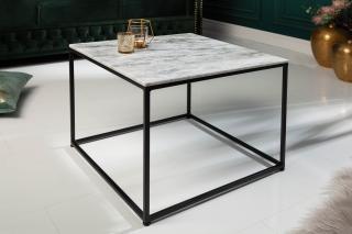 Bighome - Konfernečný stolík FUSIA 50 cm - biela