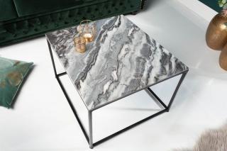 Bighome - Konfernečný stolík FUSIA 50 cm - sivá