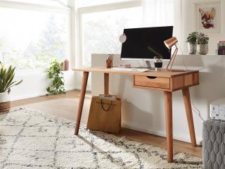Bighome - MELBOURNE Písací stôl 120 cm, dub