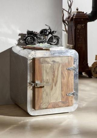 Bighome - PLAIN SHEESHAM Kontajner 50x50 cm, palisander