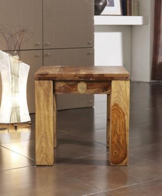 Bighome - PLAIN SHEESHAM taburetka 45x45 palisander, vintage shiny, lakovaná