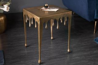 Bighome - Príručný stolík LIQUIDE 44 cm - zlatá