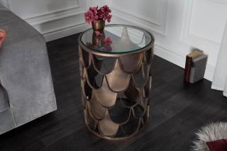 Bighome - Príručný stolík MIA 40 cm - mosadz