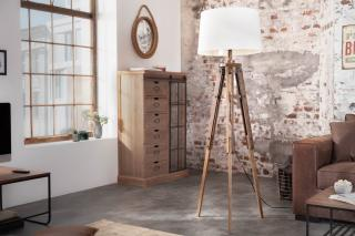 Bighome - Stojaca lampa TRIP 158 cm - biela