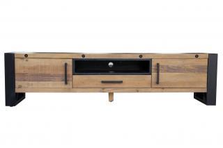 Bighome - TV stolík ROTH 200 cm - borovica, prírodná