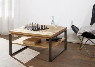 Bighome - WAGGA Konferenčný stolík 80x80 cm, dub