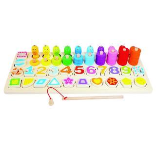 Bino Detská drevená edukatívna hra, 47 x 7 x 21 cm