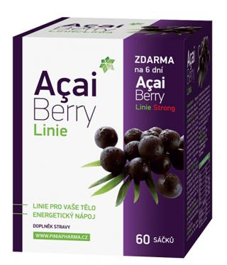 Biomedica Acai Berry Línia 60 sáčkov   darček Acai Berry Strong zadarmo -ZĽAVA - potrhaná krabička