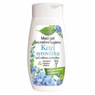 Bione Cosmetics Umývací gél na intímnu hygienu Kozí syrovátka pre citlivú pokožku 260 ml dámské