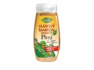 Bione Cosmetics Vlasový šampón tradičné Pivné 260 ml