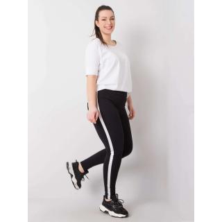 Black and silver plus size leggings Neurčeno XXL