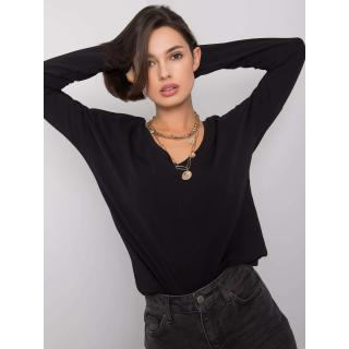 Black blouse with a neckline on the back dámské Neurčeno S