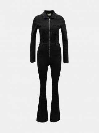 Black denim overalls TALLY WEiJL dámské čierná XL