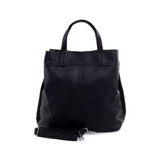Black eco leather bag dámské Other One size