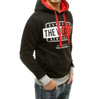 Black mens sweatshirt with hood BX4794 pánské Neurčeno XXL