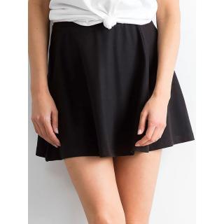 Black mini flared skirt dámské Neurčeno L