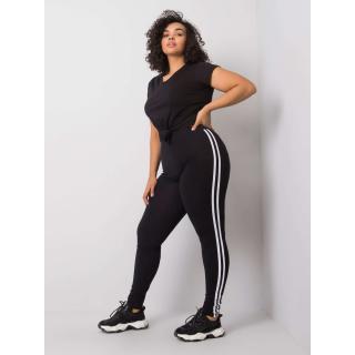 Black plus size leggings Neurčeno XXL