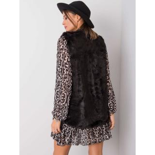 Black vest made of faux fur dámské Neurčeno M