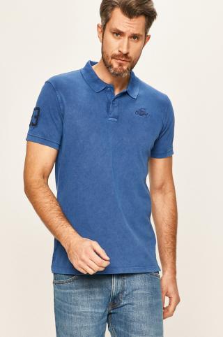 Blend - Polo tričko pánské modrá S