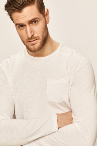 Blend - Tričko s dlhým rúkavom pánské biela S
