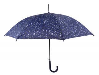 Blooming Brollies Dámsky palicový vystreľovací dáždnik Navy mini spots 12024 dámské