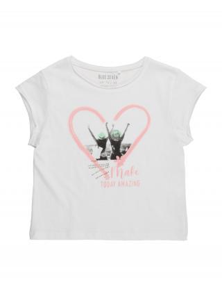 BLUE SEVEN Tričko  biela / ružová / pastelovo zelená / čierna / sivá dámské 164