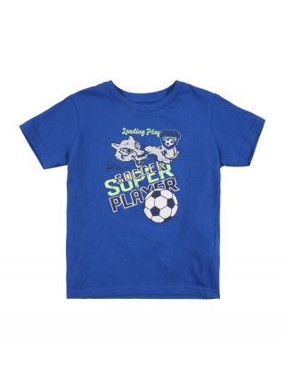 BLUE SEVEN Tričko  kráľovská modrá / biela / limetová / námornícka modrá pánské 92