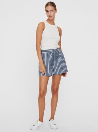 Blue striped shorts VERO MODA Eva dámské modrá XL