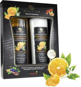 Body tip Darčeková kazeta Pomarančový kvet s mandarinkou- sprchový gél 200 ml, telové mlieko 200 ml