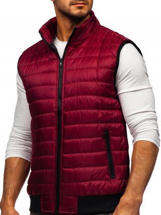 Bordová pánska prešívaná vesta Bolf MY77 XL
