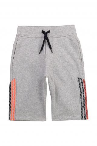 Boss - Detské krátke nohavice sivá 162