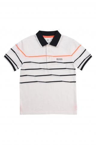 Boss - Detské polo tričko biela 162