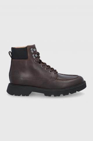 Boss - Kožená obuv pánské hnedá 41