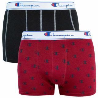 BOXER CHAMPION LEGACY 2x - Mens sports boxers 2 - brick - black pánské Neurčeno M